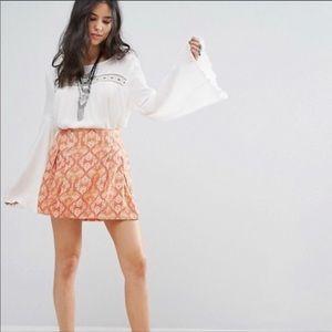 FREE PEOPLE Lovers Lane mini skirt poppy combo 6